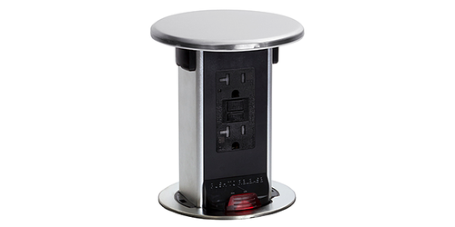 Lew Electric Pufp Ct Ss 2usb Countertop Pop Up Power W