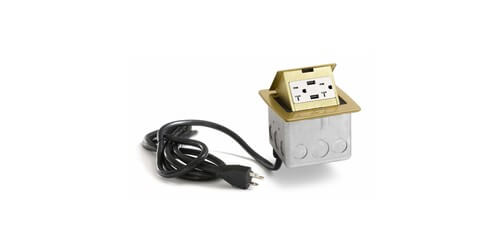 Lew Electric PUFP-CT-B-20A-2USB-WC - Main View