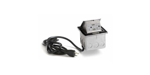 Lew Electric PUFP-CT-BK-20A-2USB-WC - Main View
