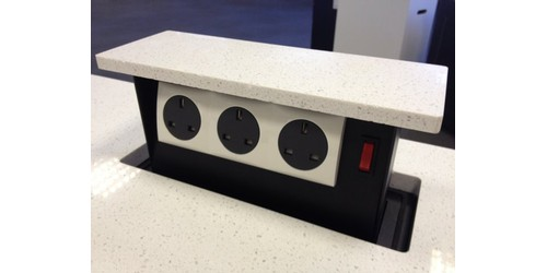 Captivating Kitchen Countertop Pop Up Power Outlet Receptacle Solutions