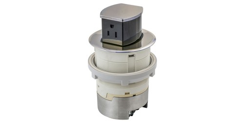 Hubbell RCT200NI Kitchen Counter Receptacle Open