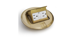 Lew Electric Brass Floor Pop Up Outlet