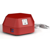 Runabout Surface Power Solution with USB Charging Red