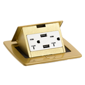Lew Electric PUFP-CT-B-20-2USB Pop Up Power Outlet Brass Lid Only